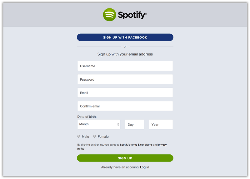 Create A Spotify Account