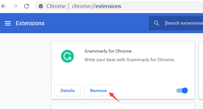 Delete Chrome Extensions