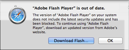 Flash Player is Out of Date on Mac