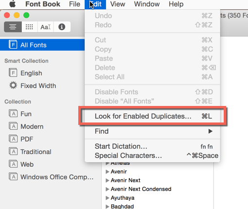 Strip Down Fonts in your Account
