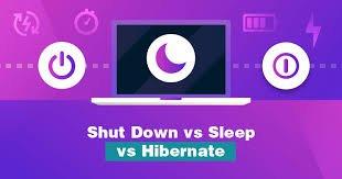 Hibernate vs Sleep vs Shutdown