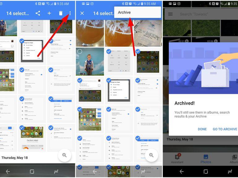 Verstecke Fotos von Google