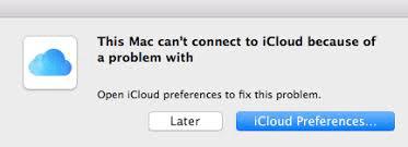 iCloudが機能しない