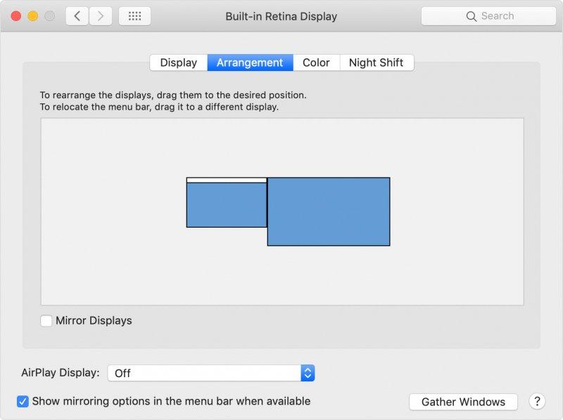 Spiegeln des Mac-Displays