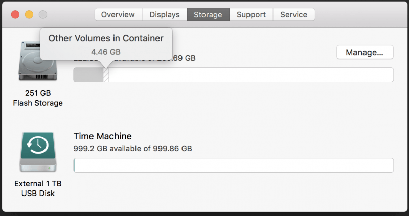 Other Volumes in Container on Mac