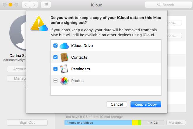 ICloud Account von Mac entfernen