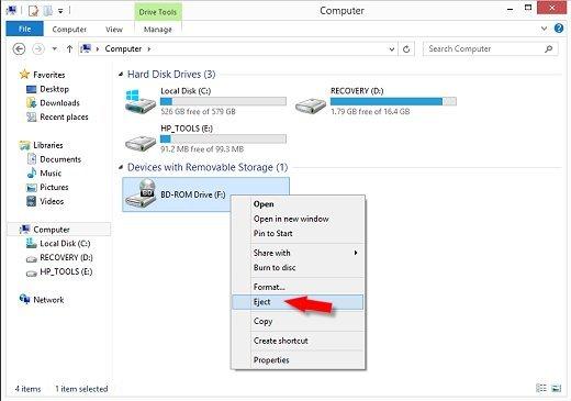 Desmontar el archivo ISO