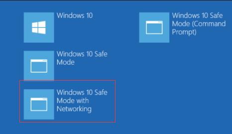 Modo seguro de Windows 10 con funciones de red