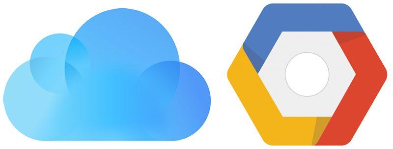 GoogleまたはiCloudを選択