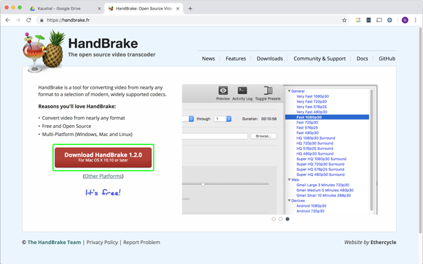 Download Handbrake