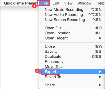 Convert Videos On Mac Using QuickTime