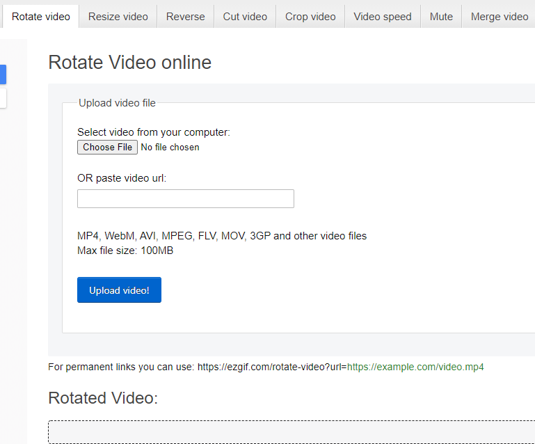 Rotate MOV File Online